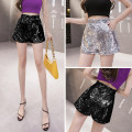 Casual pants White, black S,M,L Spring 2021 shorts Straight pants High waist Versatile routine 18-24 years old L2