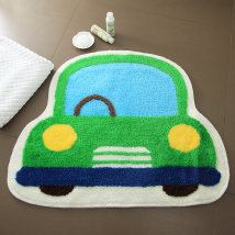 Mat Chemical fiber Machine weaving 40x50cm 50x65cm Khaki car blue car pink car orange car coffee car green car Finished carpet (yuan/block) Bathroom Simple and modern Hand wash Machine washable Household Cartoon anime Fujin one million five hundred and ten thousand two hundred and thirty-one