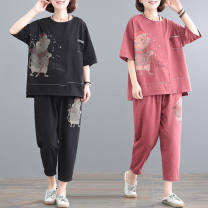 Fashion suit Summer 2021 L recommendation [100 kg], XL recommendation [100-130], 2XL recommendation [130-150], 3XL recommendation [150-170], 4XL recommendation [170-190], 5XL recommendation [190-210] Black, red Other / other