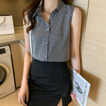 Vest sling Summer 2021 Black and white S M L XL XXL singleton  routine Straight cylinder other lattice 30-34 years old 96% and above polyester fiber Han Xianer Polyester 100% Pure e-commerce (online only)