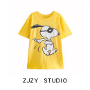 T-shirt yellow S,M,L Spring 2021 Short sleeve Crew neck easy street other 71% (inclusive) - 85% (inclusive) Europe and America