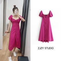 Dress Summer 2020 rose red XS,S,M,L Short skirt singleton  Short sleeve