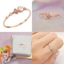 Cartoon watch / Necklace / Jewelry Over 14 years old Sailor Moon Ring Star Moon scepter, rose gold version upgrade Moonstone star moon scepter, platinum version The price is 11 yuan, the deposit is 13 yuan, the deposit is 15 yuan, and the deposit opening can be adjusted by 15-19 yuan# Little rabbit