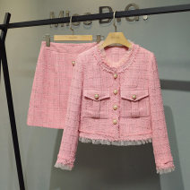Fashion suit Spring 2021 S,M,L,XL Pink 25-35 years old Miss D.G. T32 81% (inclusive) - 90% (inclusive) polyester fiber