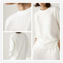 Sweater / sweater Spring 2021 S,M,L Long sleeves routine Socket Upper and lower sleeve thickening Crew neck Straight cylinder commute routine Solid color Simplicity cotton Cotton liner