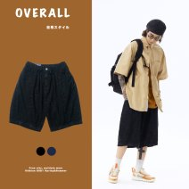 Jeans Youth fashion Others S,M,L Black, dark blue routine Micro bomb Regular denim Pant Other leisure summer youth middle-waisted Japanese Retro 2021 zipper washing