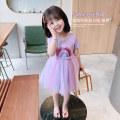 Dress Purple Pink female Mikir / mikir 90cm 100cm 110cm 120cm 130cm Cotton 95% other 5% summer Korean version Short sleeve Cartoon animation cotton A-line skirt B105 Class A Summer 2021 12 months, 18 months, 2 years old, 3 years old, 4 years old, 5 years old, 6 years old Chinese Mainland