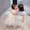 Dress Blue Pink female Mikir / mikir 100cm 110cm 120cm 130cm 140cm Cotton 95% other 5% summer Korean version Short sleeve Solid color cotton A-line skirt F200 Class A Summer 2021 12 months, 18 months, 2 years old, 3 years old, 4 years old, 5 years old, 6 years old Chinese Mainland Jiangsu Province