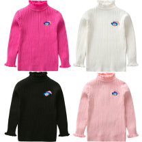 Sweater / sweater 90cm 100cm 110cm 120cm 130cm cotton female Bright bear baby Korean version No model Socket routine High collar nothing Fine wool Cartoon animation Cotton 100% Long sleeves winter They were 2 years old, 3 years old, 4 years old, 5 years old, 6 years old, 7 years old and 8 years old