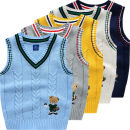Vest male 90cm 100cm 110cm 120cm 130cm Bright bear baby spring and autumn routine No model Socket cotton Cartoon animation Cotton 100% B8159 They were 2 years old, 3 years old, 4 years old, 5 years old, 6 years old, 7 years old and 8 years old