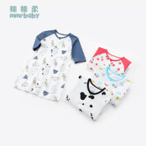 Home Gown / Nightgown Cotton 100% Ink blue cherry baby white car white cow size recommendation table Soft cotton Class A neutral spring and autumn 12 months 18 months 2 years 3 years 4 years 3 months 6 months 9 months Pure cotton (100% cotton content) Moisture absorption and sweat absorption at home