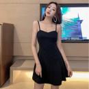 Dress Summer 2020 Black, transparent shoulder strap for collection S,M,L,XL,2XL
