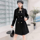 Women's large Spring 2021 Black (6882) 3XL 130-150kg, 4XL 150-170kg, 5XL 170-190kg, 6xl 190-210kg Windbreaker singleton  commute easy moderate Cardigan Long sleeves Solid color other Others, polyester Collage routine 18-24 years old Lace stitching 91% (inclusive) - 95% (inclusive) Medium length other