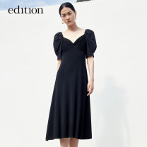 Dress Summer 2021 black XS/155 S/160 M/165 L/170 XL/175 Mid length dress 25-29 years old edition EBA2DRS016 30% and below nylon Viscose (viscose) 80.4% polyamide (nylon) 19.6% Same model in shopping mall (sold online and offline)