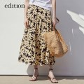 skirt Summer 2021 XS/155 S/160 M/165 L/170 XL/175 Artistic flower color longuette High waist 25-29 years old EBA2SKT007 More than 95% edition cotton Cotton 100% Same model in shopping mall (sold online and offline)