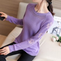 Wool knitwear Spring 2020 S M L XL XXL Long sleeves singleton  Socket other More than 95% Regular routine commute easy Low crew neck routine Solid color Socket Korean version 18-24 years old City Flower Other 100% Pure e-commerce (online only)