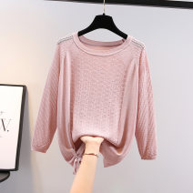 Wool knitwear Spring 2021 Average size Pink apricot white black Long sleeves singleton  Socket other More than 95% Regular routine commute easy Low crew neck routine Solid color Socket Korean version CLH2021030409 25-29 years old City Flower Frenulum Other 100% Pure e-commerce (online only)