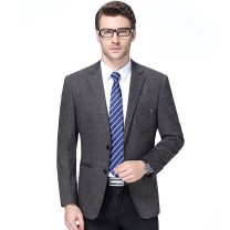 man 's suit grey Others Business gentleman routine 170/46,175/48,180/50,185/52 96-1880 Self cultivation Two double breasted Other leisure No slits middle age Long sleeves winter routine Business Casual Round hem other 2020 other other