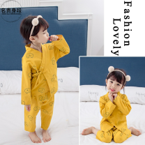Home suit Noble figure 80cm 90cm 100cm 110cm 120cm 130cm yellow spring and autumn female Other 100% 12 months under 1 year old 1-3 years old 5-7 years old Home Cotton blended fabric other w2o8v Winter of 2019