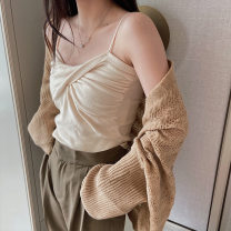 Scarf / silk scarf / Shawl polyester Khaki Black Beige light camel grey violet Spring and summer female multi-function youth Solid color Warm lotus Spring 2021