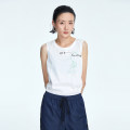 T-shirt Ca02 solid white 36 38 40 42 Spring 2021 Sleeveless Crew neck Straight cylinder Regular routine commute cotton 96% and above 30-34 years old Simplicity other OTT OD1101502 printing Cotton 100%