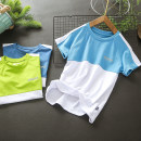 Children's quick drying T-shirt summer other Dark blue, light blue, fluorescent green male Other / other 160,150,140,130,120,110 Class B Ultra light, breathable, quick drying, UV resistant Polyester 100% road trip China 14, 13, 12, 11, 10, 9, 8, 7, 6, 5, 4