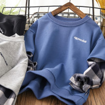 Sweater / sweater Other / other Black, gray, blue male 110cm,120cm,130cm,140cm,150cm,160cm spring and autumn nothing leisure time Socket routine cotton other Cotton 95% polyurethane elastic fiber (spandex) 5% Class B