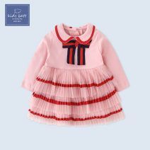 Dress female 73cm 80cm 90cm 100cm 110cm Cotton 95% other 5% spring and autumn Europe and America Long sleeves cotton Pleats Class A Autumn 2020 3 months 12 months 6 months 9 months 18 months 2 years old