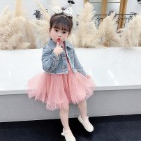 Dress Denim coat + dress denim coat female McDonnell 80cm 90cm 100cm 110cm 120cm 130cm Other 100% spring and autumn Korean version Long sleeves other other MDD-55448 Class A Spring 2021 12 months, 18 months, 2 years old, 3 years old, 4 years old, 5 years old, 6 years old and 7 years old Jiangmen City