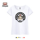 T-shirt Women's white women's gray women's shoulder insertion women's red women's yellow women's Pink S M XL L 2XL 3XL Summer of 2019 Short sleeve Crew neck Self cultivation Regular routine commute cotton 86% (inclusive) -95% (inclusive) 18-24 years old Korean version youth Cartoon animation Ohlyah