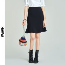 skirt Spring 2021 S M L XL black Middle-skirt street Natural waist Ruffle Skirt Solid color Type A 30-34 years old Q45270-1 More than 95% HAVVA polyester fiber zipper Polyester 97% polyurethane elastic fiber (spandex) 3% Same model in shopping mall (sold online and offline) Europe and America