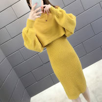 Fashion suit Autumn 2020 S M L XL Off white light green yellow black lotus root Pink Autumn blossoms J13053 Other 100% Pure e-commerce (online only)