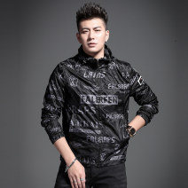 Jacket Yan Ji Youth fashion Black and white S ml XL 2XL 3XL 4XL standard routine Self cultivation Other leisure spring YJ2744-1 Polyester 100% Long sleeves Wear out tide youth routine Zipper placket Closing sleeve Spring 2021
