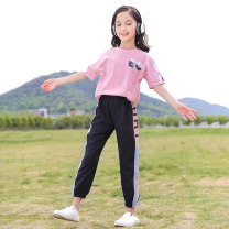 suit Other / other Black, white, pink, pink suit, white suit 120cm,130cm,140cm,150cm,160cm,170cm female summer motion Short sleeve + pants 2 pieces routine There are models in the real shooting Socket nothing other other children Expression of love T020089 Class B Other 100% Chinese Mainland