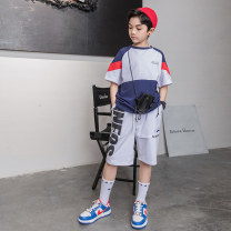 suit Young master white 135cm 145cm 155cm 165cm 175cm male summer fashion Short sleeve + pants 2 pieces Thin money There are models in the real shooting Socket nothing cotton children Expression of love IXZXC01K03 Class B Other 100% Summer 2021 Chinese Mainland Shandong Province Weihai City
