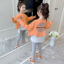 suit Heinimu Orange pink green red bear red Collection Plus priority delivery Bear Pink 110cm 120cm 130cm 140cm 150cm 160cm female spring and autumn Korean version Long sleeve + pants 2 pieces routine There are models in the real shooting Socket nothing other Cotton blended fabric children TZ0111