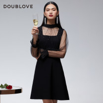 Dress Winter 2020 black 1/XS 2/S 3/M 4/L 5/XL 6/2XL Middle-skirt singleton  Long sleeves Sweet stand collar middle-waisted Solid color other Big swing other Others 25-29 years old Type X DOUBLE LOVE Splicing DPGPA9406A More than 95% knitting other Other 100% Ruili