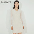 Dress Winter 2020 Beige 2/S 3/M 4/L 5/XL Middle-skirt singleton  Long sleeves Sweet Doll Collar middle-waisted Solid color zipper other bishop sleeve Others 25-29 years old Type H DOUBLE LOVE Patchwork lace DFGPA4204A More than 95% other Other 100% Ruili