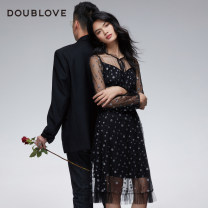 Dress Winter 2020 black 1/XS 2/S 3/M 4/L 5/XL 6/XXL Mid length dress singleton  Long sleeves Sweet stand collar middle-waisted Solid color other other routine Others 25-29 years old Type X DOUBLE LOVE DPGPA4205A 91% (inclusive) - 95% (inclusive) nylon Polyamide (nylon) 93.6% polyester 6.4% Ruili