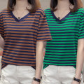 T-shirt M L XL 2XL 3XL 4XL 5XL Summer of 2019 Short sleeve Crew neck easy Regular routine commute cotton 86% (inclusive) -95% (inclusive) 18-24 years old Korean version originality Jiaolingbao Cotton 95% polyurethane elastic fiber (spandex) 5% Pure e-commerce (online only)