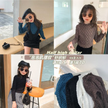 Sweater / sweater 90cm,100cm,110cm,120cm,130cm,140cm cotton female Black, white, blue, coffee Other / other Korean version There are models in the real shooting Socket routine One word collar nothing Fine wool Solid color Cotton 85% others 15%