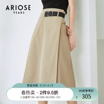 skirt Summer 2020 S M L XL XXL khaki longuette commute High waist A-line skirt Solid color Type A 25-29 years old 51% (inclusive) - 70% (inclusive) Ariose & years cotton zipper Cotton 53.5% polyester 46.5% Same model in shopping mall (sold online and offline)