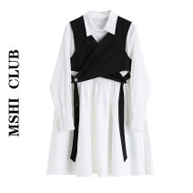 Dress Autumn 2020 Black and white suit [short sleeve version], black and white suit [long sleeve version] XS,S,M,L Middle-skirt Two piece set Long sleeves commute tailored collar middle-waisted Solid color Socket A-line skirt routine Others Type H Korean version 30% and below other other