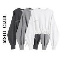 Sweater / sweater Autumn 2020 Black, white, grey Average size Long sleeves have cash less than that is registered in the accounts Socket singleton  routine Crew neck Straight cylinder commute routine Solid color 30% and below Korean version