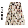 skirt Spring 2021 S,M,L skirt Mid length dress commute High waist A-line skirt other Type A 30% and below other other