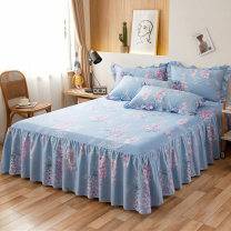 Bed skirt cotton Helena blue, fancy life, fancy grey, romantic pink, Monica, flowers in the mist, dark green, blue, brocade pink, Provence, Seine, Sofia, Xinya, memories of Jiangnan Other / other Plants and flowers Qualified products LC2020-119