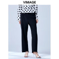 Casual pants Black 20 S M L XL Summer 2020 trousers Straight pants Natural waist commute routine 25-29 years old V1305908 Vimage / Weiman period Simplicity Polyester 100% Same model in shopping mall (sold online and offline)