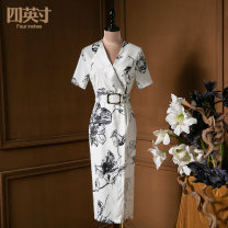 Dress Spring 2021 white S M L XL Mid length dress 35-39 years old Four inches / 4 inches More than 95% other Other 100%
