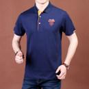 T-shirt Business gentleman 9786 grey thin 200/5XL Nianjeep / Jeep shield hnt5880 Cotton 95% polyurethane elastic fiber (spandex) 5% Knitted fabric Summer of 2018