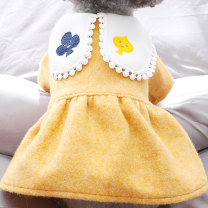 Pet clothing / raincoat Dog skirt XS (about 2.5-3.5 kg) s (about 4-5.5 kg) m (about 6-8 kg) l (about 9-11 kg) XL (about 11-14 kg) Le Shuang pet leisure time Playing card tweed dress